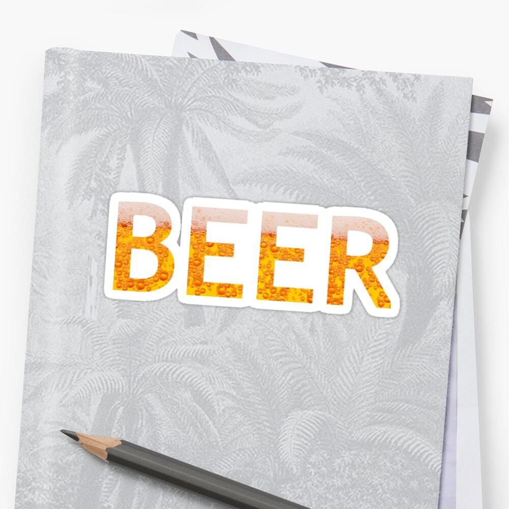 cerveza Pegatina