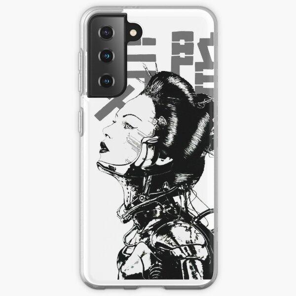 Cyberpunk Girl Vaporwave Aesthetic Samsung Galaxy Soft Case