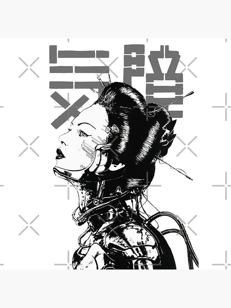Cyberpunk Girl Vaporwave Aesthetic by OWLvision33