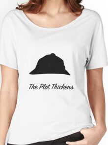 """Sherlock Holmes """"The Plot Thickens"""" Women's Relaxed Fit T-Shirt"""
