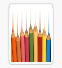Rainbow Pencil Crayons Sticker