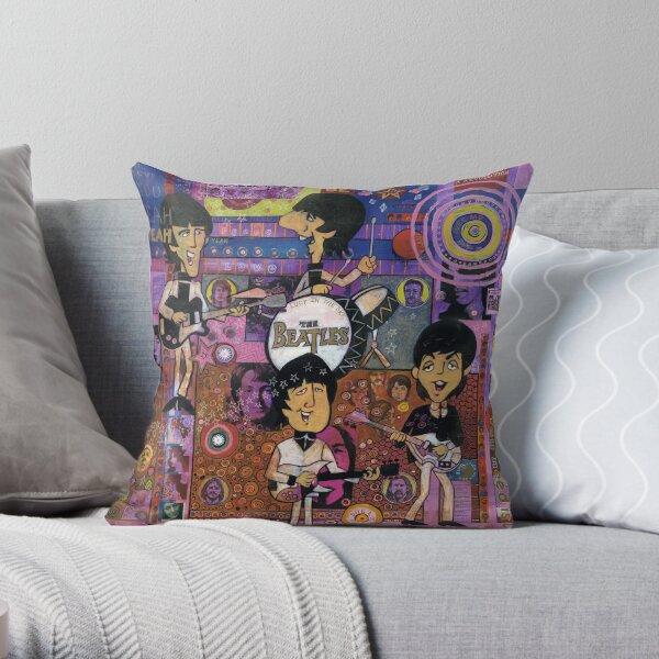 Saturday Morning Cartoons Throw Pillow
