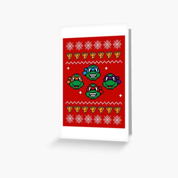 Christmas Teenage Mutant Ninja Turtles Greeting Card