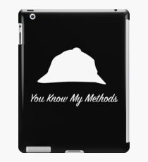 "Sherlock Holmes ""You Know My Methods"" (White) iPad Case/Skin"