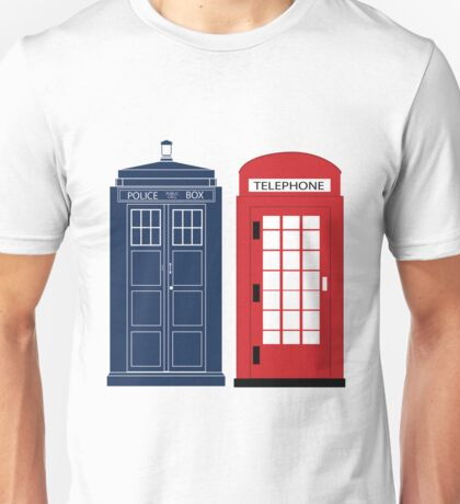 Dr. Who Phone Booth Unisex T-Shirt