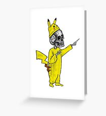 Skull Pikachu Greeting Card