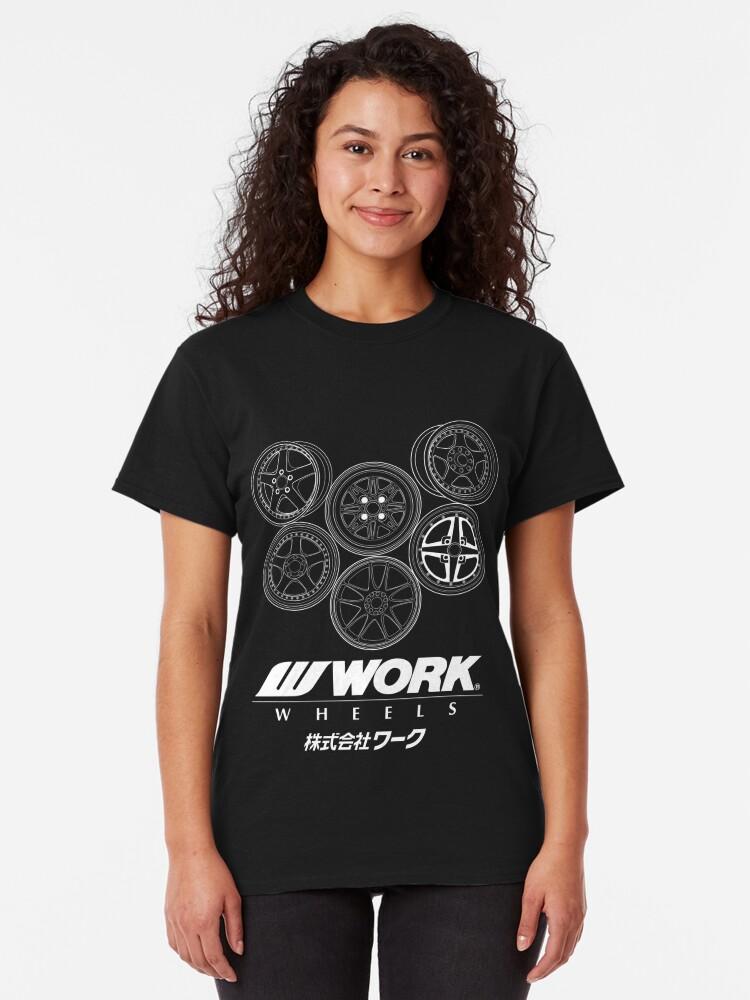 Vista alternativa de Camiseta clásica Ruedas de trabajo