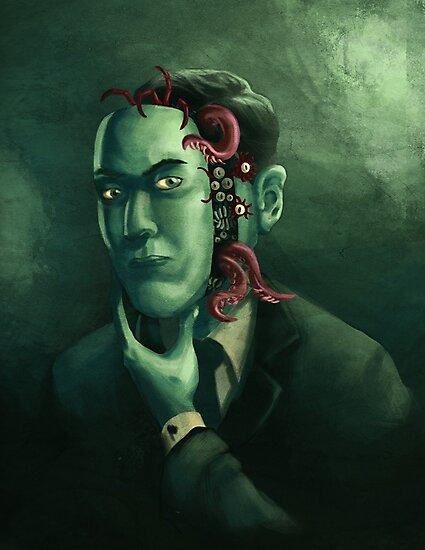 H.P. Lovecraft (w/background) by wildcard24