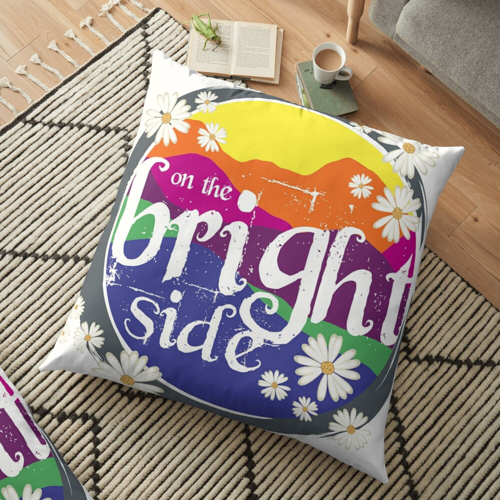 On the BRIGHT side! Floor Pillow