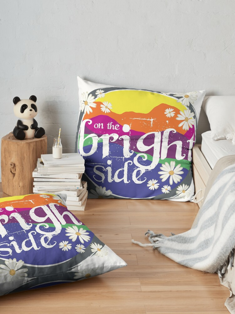 Alternate view of On the BRIGHT side! Floor Pillow