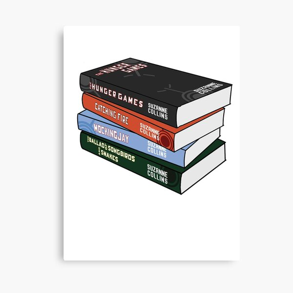 The hunger games book stack Canvas Print