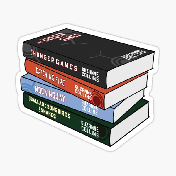 The hunger games book stack Sticker