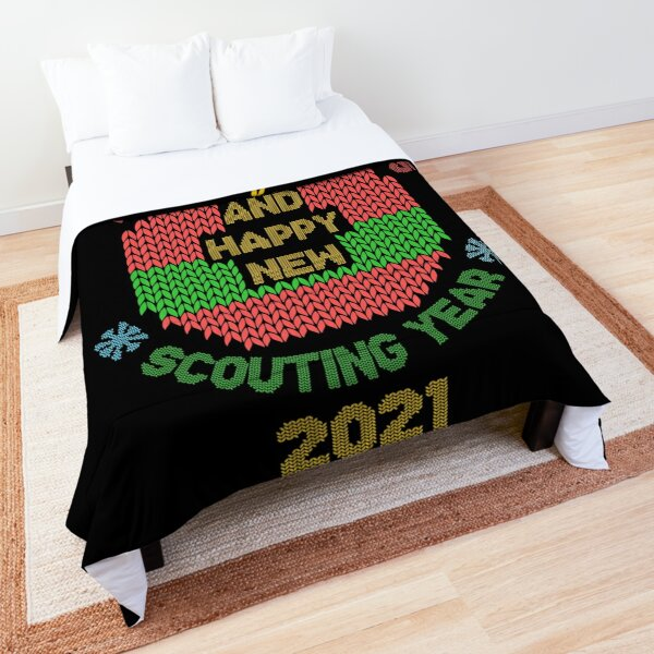 Merry christmas and happy scouting year 2021 Comforter