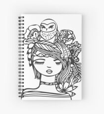Owl Girl Spiral Notebook