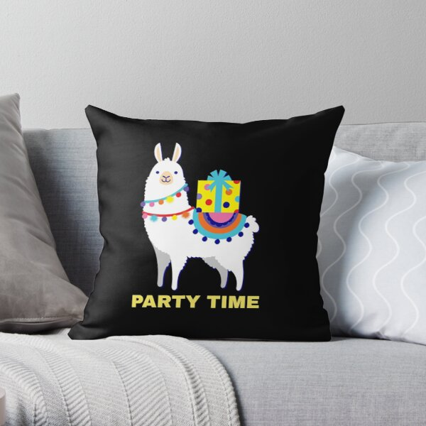 Party Time- Funny Wishes Throw Pillow