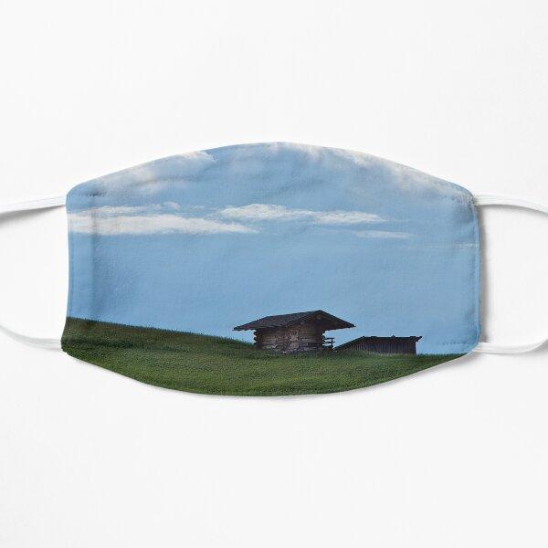 Hut on the mountainside Flat Mask