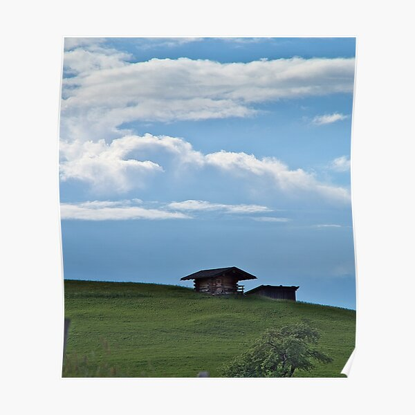 Hut on the mountainside Poster