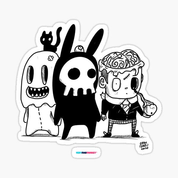 Monster Friends Pegatina
