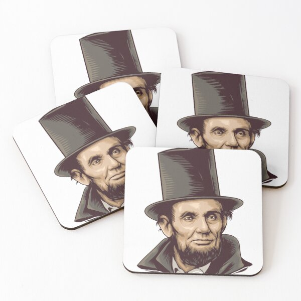 Abraham Lincoln Art Coasters (Set of 4)