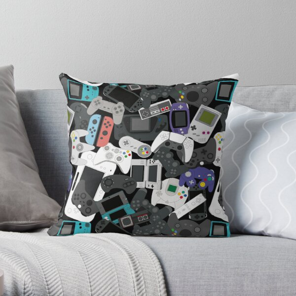 GAMER CONTROLLER ALL Throw Pillow
