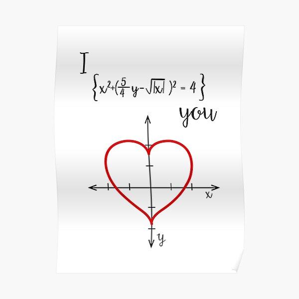 Mathematical love Poster