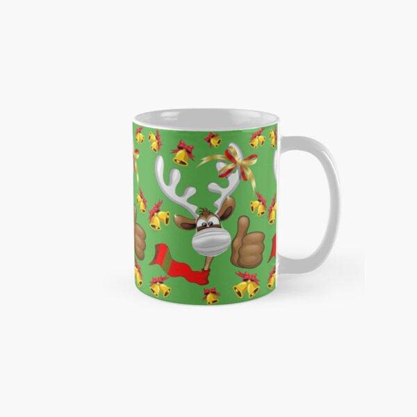 Reindeer Christmas Character with Face Mask Classic Mug