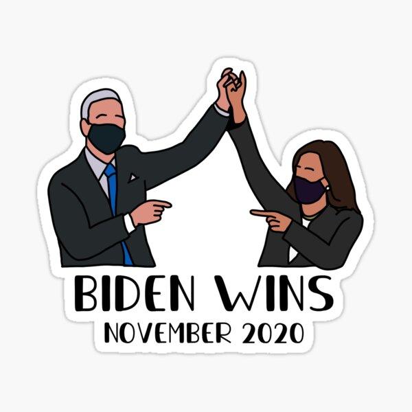 BIDEN WINS Sticker
