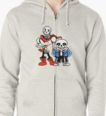 Undertale - Sans and Papyrus Zipped Hoodie