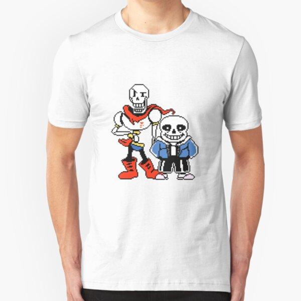 Undertale - Sans and Papyrus Slim Fit T-Shirt