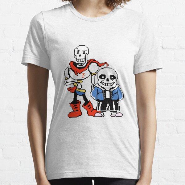 Undertale - Sans y papiro Camiseta esencial