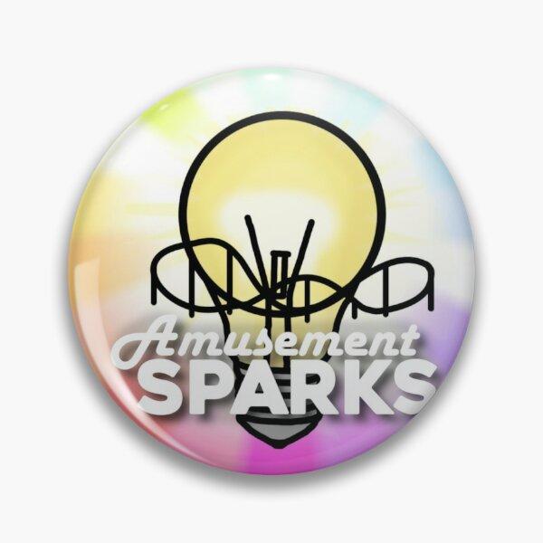 Amusement Sparks Circle Logo Pin