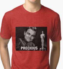 Leonardo reacting to Oscar Tri-blend T-Shirt
