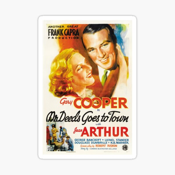Frank Capra Mr. Deeds Goes to Town Sticker