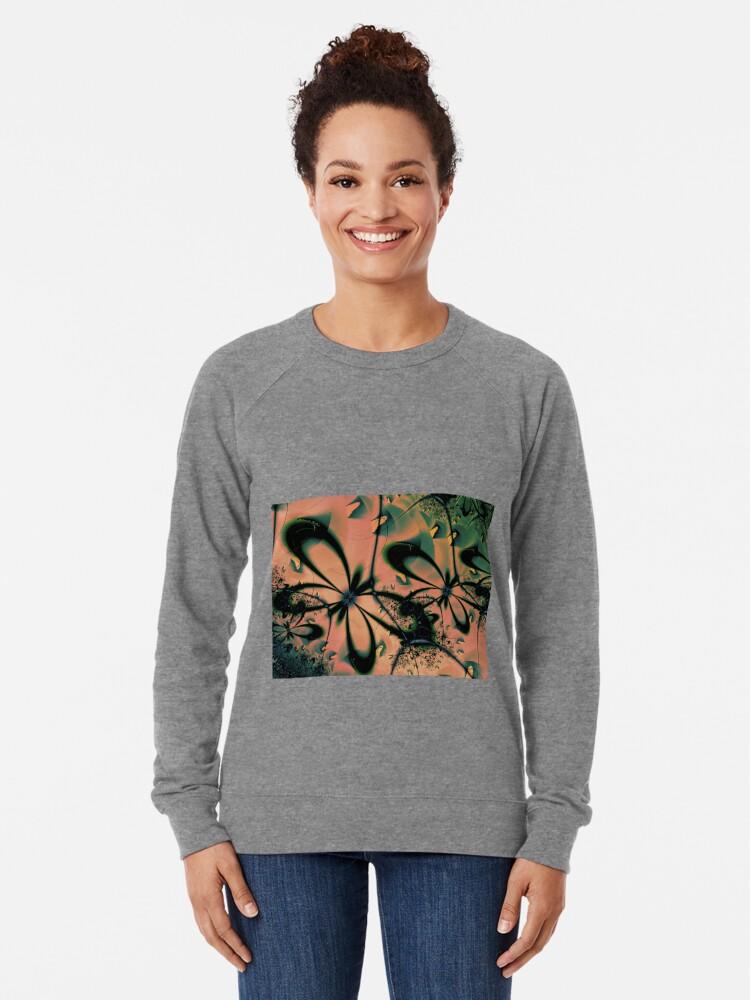 Alternate view of Sunshine Butterflies Art  Lightweight Sweatshirt