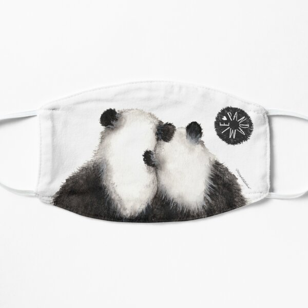Pandamie: Giant Panda Couple leaning on each other Small Mask