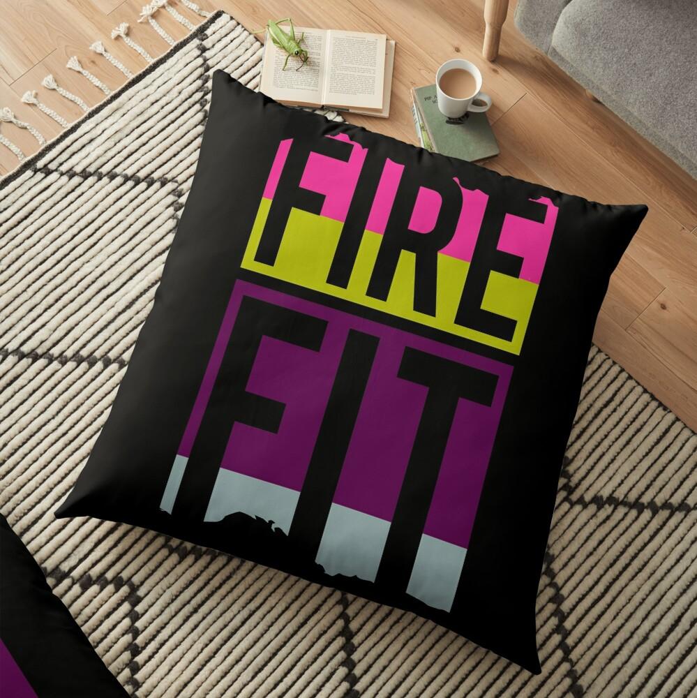Fire Fit Floor Pillow