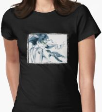 Sea Turtle Totem Womens Fitted T-Shirt