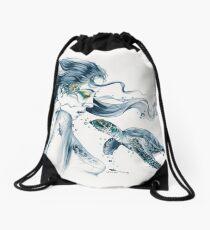 Sea Turtle Totem Drawstring Bag