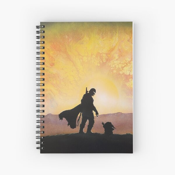 mando hunter and child canvas Spiral Notebook