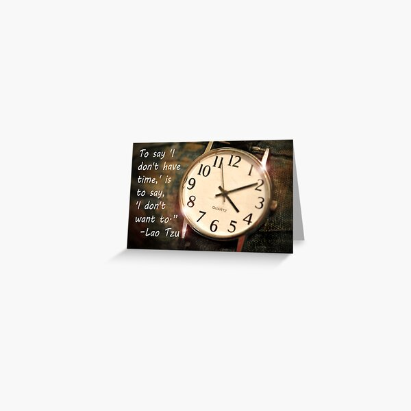 Time Management Greeting Card