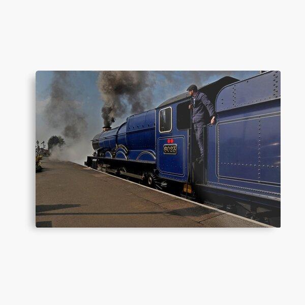 GWR steam loco King Edward II Metal Print