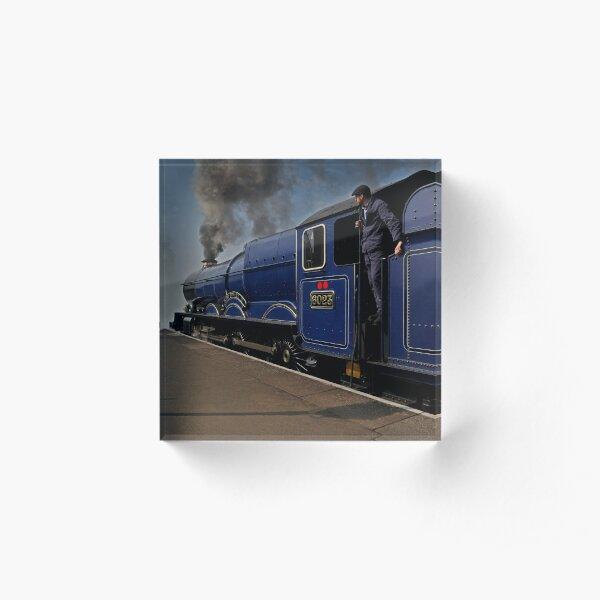 GWR steam loco King Edward II Acrylic Block