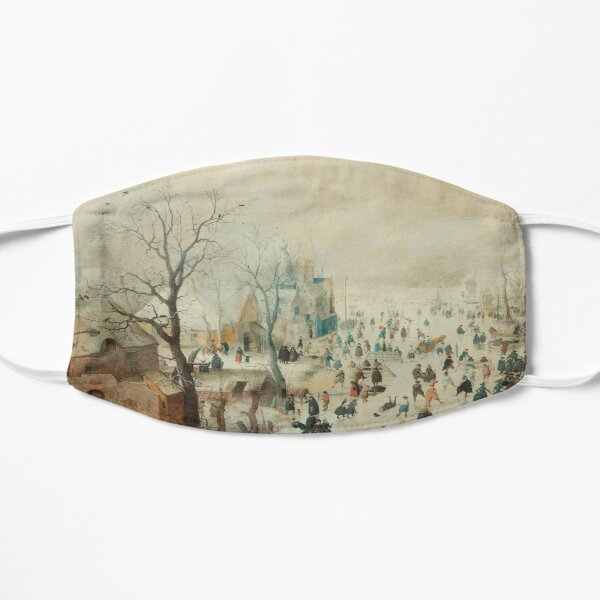 Holiday Ice Skating Rijks Museum Collection Flat Mask