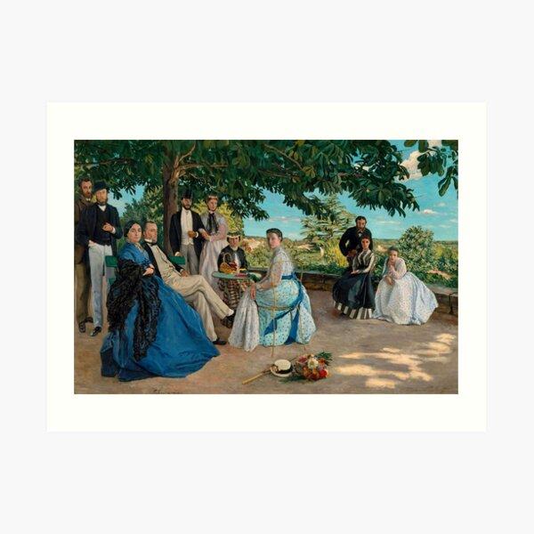 Frédéric Bazille - Family Reunion (1867) Art Print