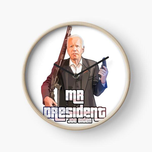 Joe Biden American president GTA like art USA, Murica Clock