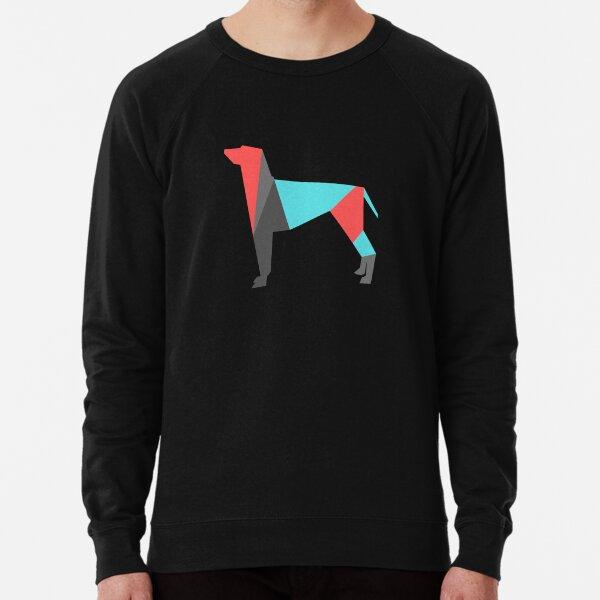 Colorful Outline Image of Big Dog Lightweight Sweatshirt