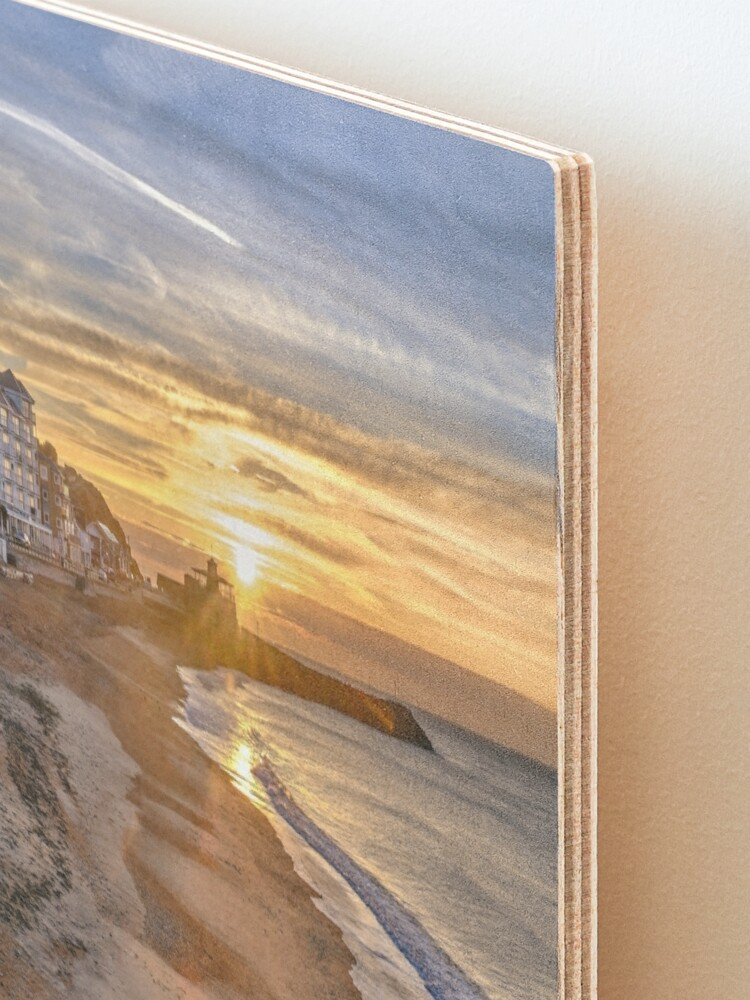 Alternate view of Sunrise On Ventnor Beach Mounted Print