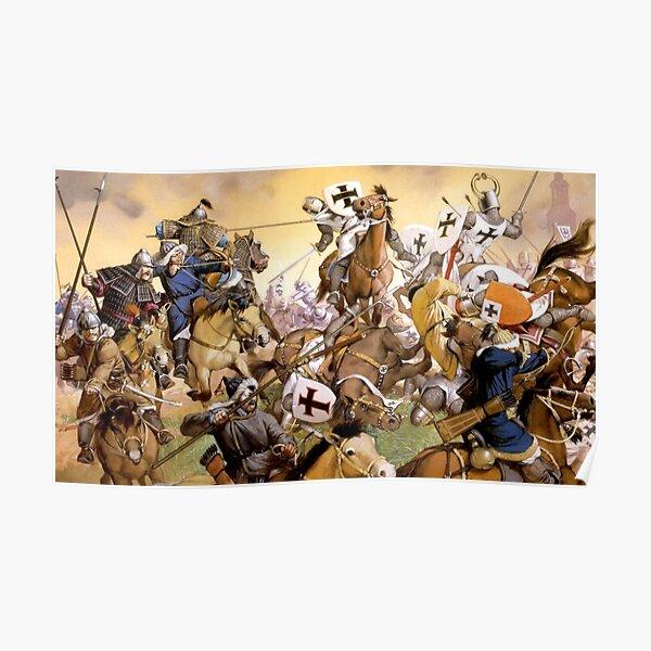 Mongol knight battle  Poster