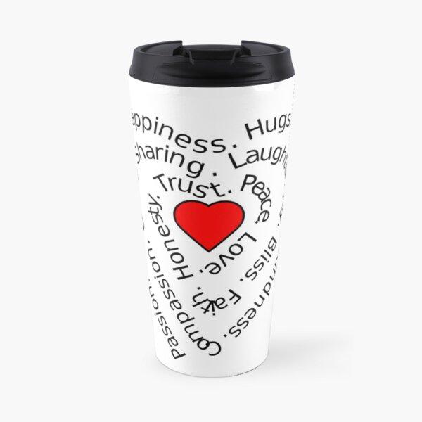 LOVE Spiral Heart Travel Mug