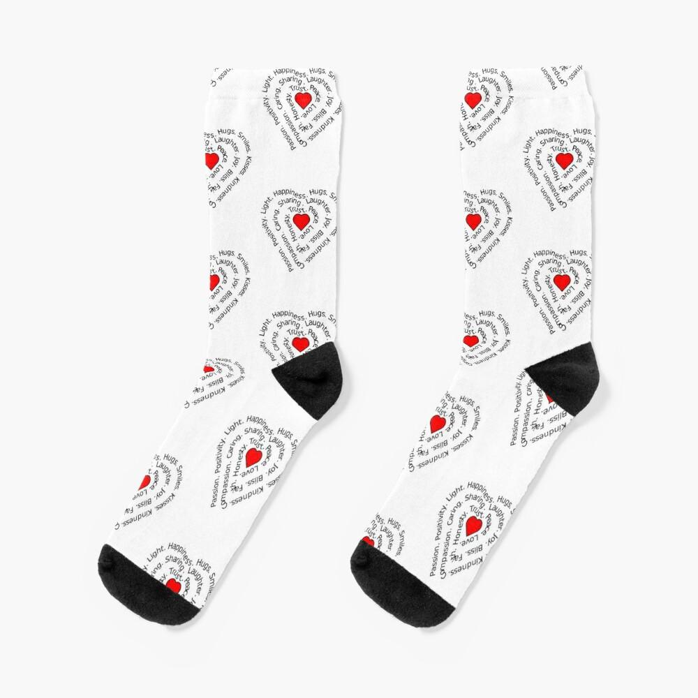 LOVE Spiral Heart Socks